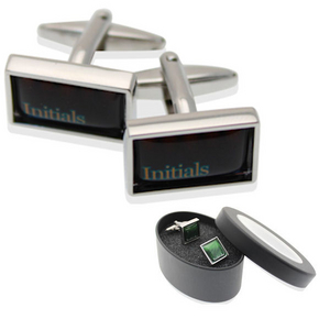 Rectangle Cufflinks in Presentation Tin